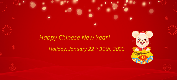 Carbonal holiday notice for Chinese new year 2020